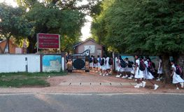 Школьное время Азия стоковая фотография rf