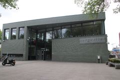 Школьное здание средней школы назвало коллеж Sorgvlieth в вертепе Haag Нидерландами стоковая фотография rf