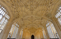 Школа божественности, Оксфорд, Англия Стоковое Фото
