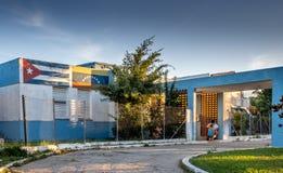 Школа в Vinales Кубе Стоковые Фото