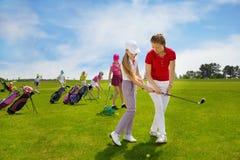 Школа гольфа детей Стоковое Изображение