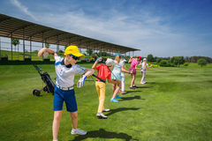 Школа гольфа Стоковая Фотография