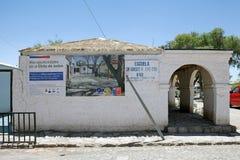 Школа, деревня Chiu Chiu, Чили Стоковые Фотографии RF