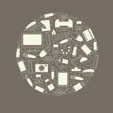 Школа и образование конструируют элемент аранжированный в круге Стоковое Фото