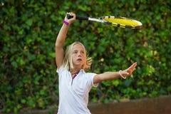 Школа тенниса Стоковое Фото