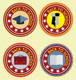 Школа Emblems вектор Стоковые Фото