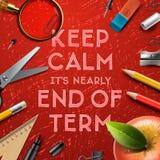 Школы вне, конец термины Стоковое Изображение RF