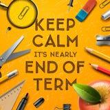 Школы вне, конец термины иллюстрация вектора