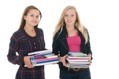 Школьницы с сумками школы Стоковая Фотография RF