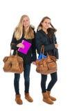 Школьницы с сумками школы Стоковое фото RF