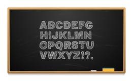 Школьное правление при алфавит написанный в меле Стоковое Фото