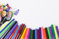 Школьные принадлежности ` s детей Стоковое Изображение