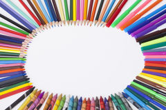 Школьные принадлежности ` s детей Стоковое Фото