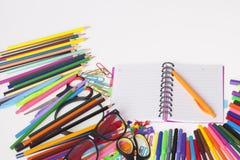 Школьные принадлежности ` s детей Стоковое Изображение RF