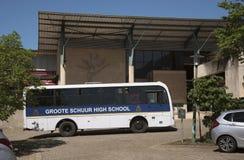 Школьный автобус Кейптаун Южная Африка Стоковые Изображения RF