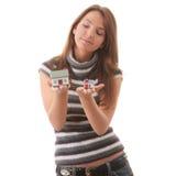 шланг рук моделирует 2 детенышей женщины Стоковые Фото