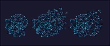 Шлемофон виртуальной реальности иллюстрация вектора