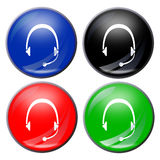шлемофон кнопки стоковые фото