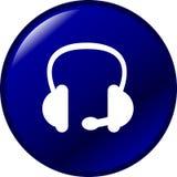 шлемофон кнопки Стоковая Фотография