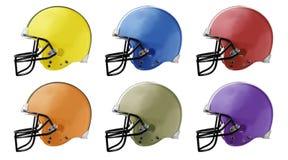 шлемы футбола Стоковые Изображения RF