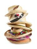 шлемы штабелировали разнообразие сторновки вертикально Стоковое Фото