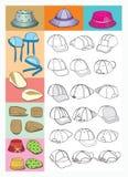 шлемы иллюстрация вектора