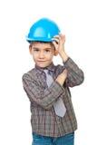 шлем архитектора будущий трудный Стоковые Фотографии RF