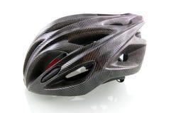 шлем велосипеда черный Стоковые Изображения
