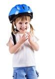 шлем девушки аварии милый Стоковое Изображение RF
