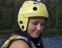шлем девушки защитный Стоковые Изображения