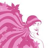 шлем девушки осени Бесплатная Иллюстрация