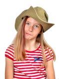шлем девушки стороны смешной Стоковые Фото