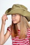 шлем девушки стороны смешной Стоковое Фото