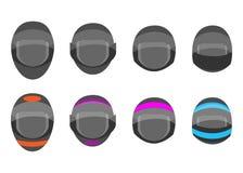Шлем для участвовать в гонке автомобили, велосипеды, мотоциклы бесплатная иллюстрация