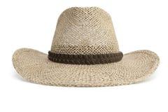 шлем ковбоя изолировал белизну сторновки Стоковые Изображения