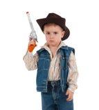 шлем ковбоя мальчика немногая нося Стоковые Изображения