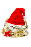 Шлем красного цвета Santa Claus Стоковые Изображения