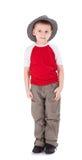 шлем мальчика немногая нося Стоковые Фотографии RF