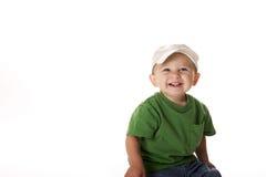 шлем мальчика немногая нося Стоковые Изображения