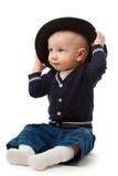 шлем мальчика немногая Стоковая Фотография