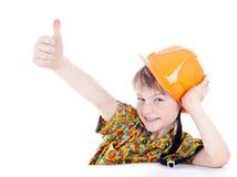 шлем мальчика немногая Стоковое Изображение