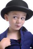 шлем мальчика подающего милый немногая Стоковая Фотография