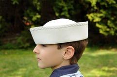 шлем мальчика Стоковое Изображение
