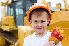 шлем мальчика Стоковые Изображения