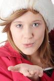 шлем милый santa девушки рождества предназначенный для подростков Стоковые Изображения RF