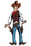 шлем пушки ковбоя шаржа пояса Стоковое Изображение