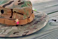 шлем рыболовства Стоковое Изображение RF