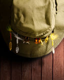 Шлем рыболовства стоковые фотографии rf