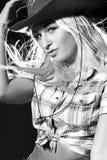 шлем славный s девушки ковбоя Стоковая Фотография