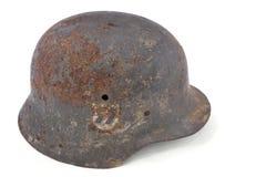 шлем сражения немецкий ржавый Стоковая Фотография